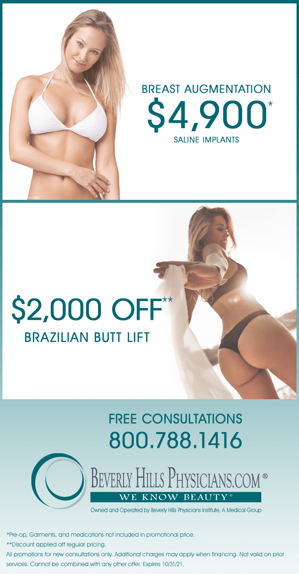 Plastic Surgery Specials and Promotions